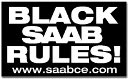 Black SAAB Rules Bumper Sticker