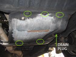 saab 9-3 oil pan removal